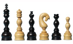 Regency Chessmen Eboni   6 inch
